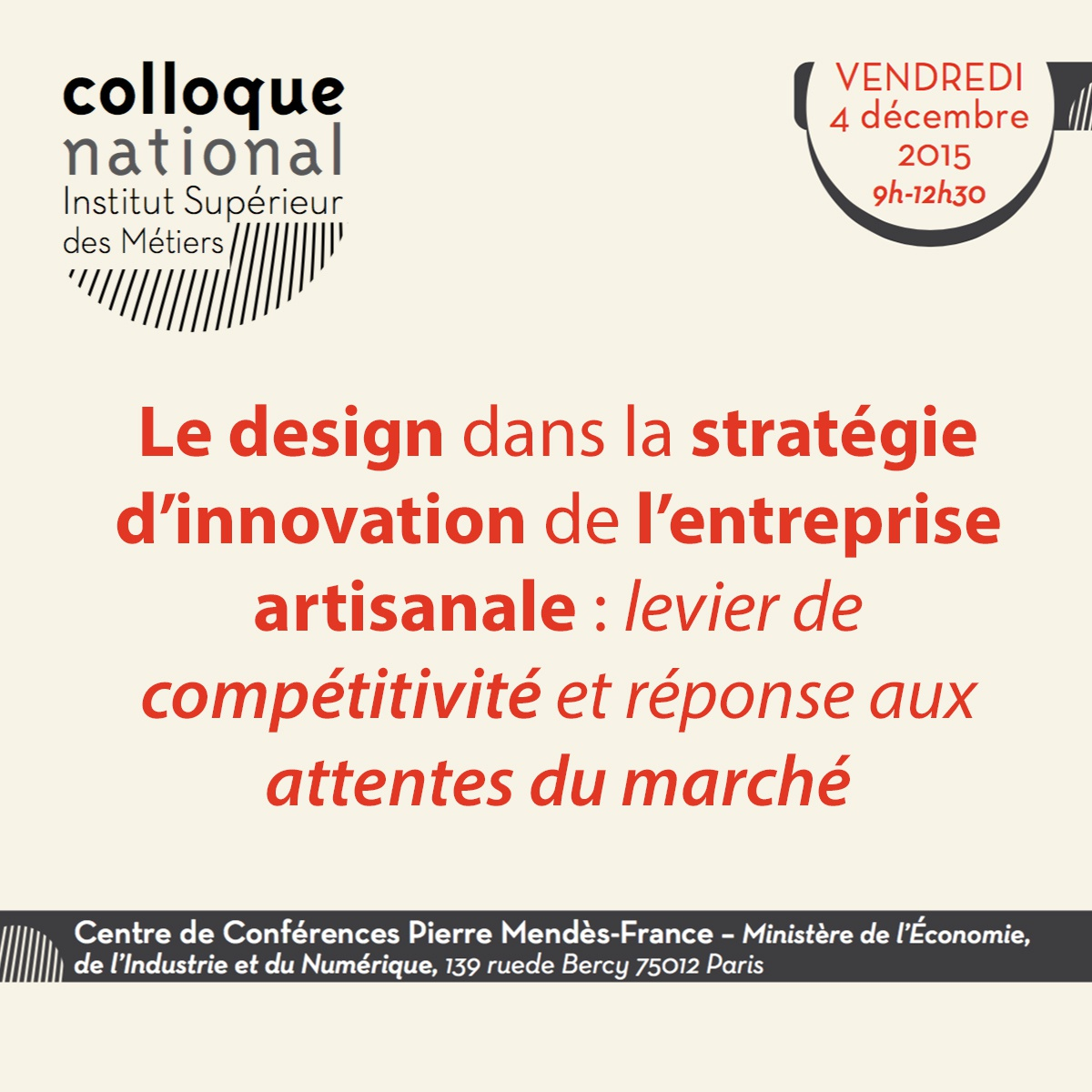 Colloque ISM design 2015